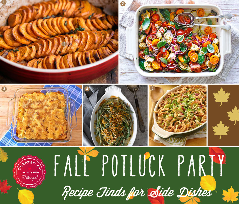 fall potluck side dishes like green bean cassrole