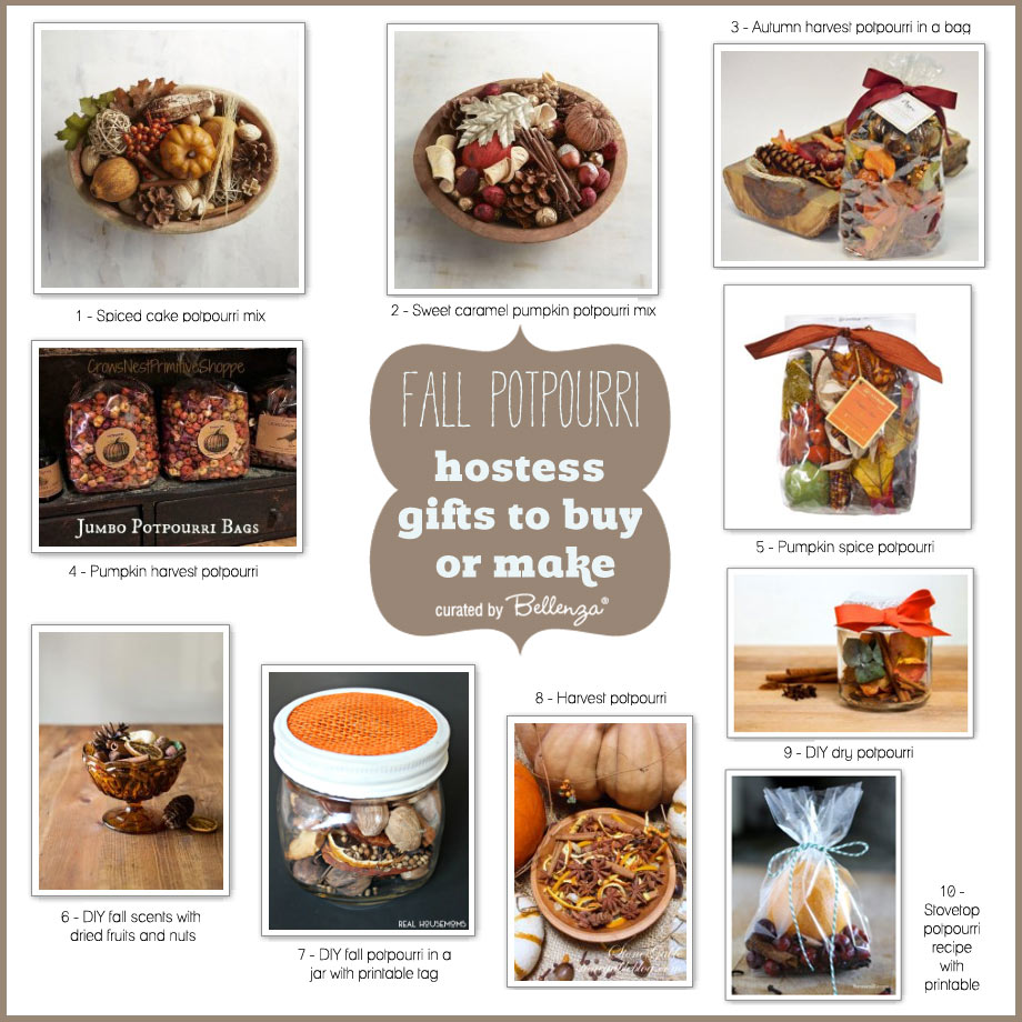 10 fragrant fall potpurri gift ideas to make or buy for the perfect hostess gift.