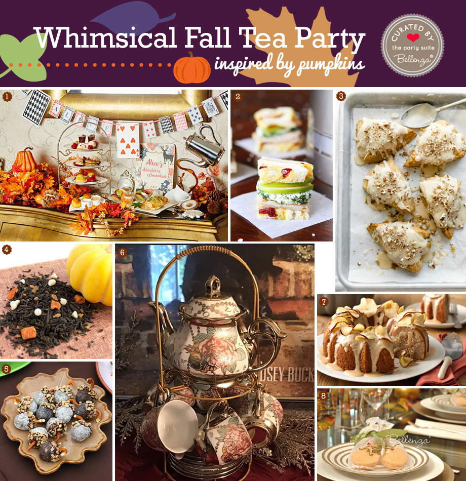 Fall pumpkin tea party theme