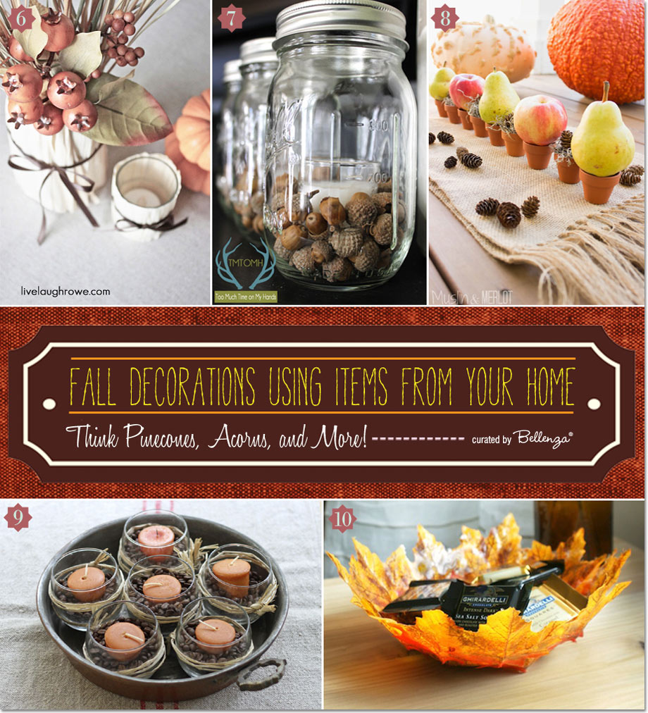 10 Fall Decorations Using Items from Your Home