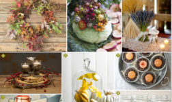Natural elements for decorating your home parties