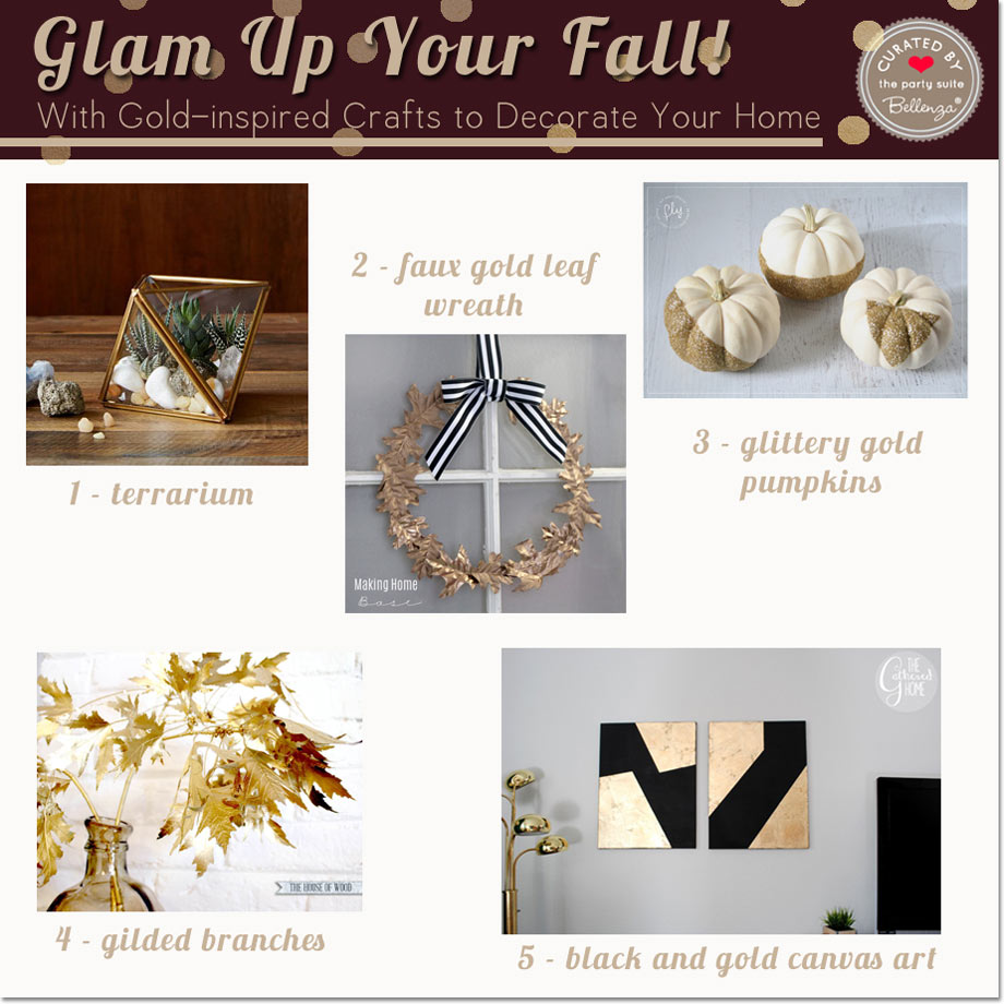 Glam Up Your Fall With Gold-inspired Crafts to Decorate Your Home // Curated Finds by Bellenza