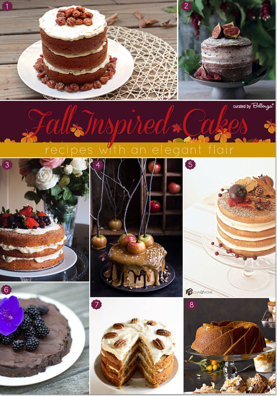 Fall Cakes Inspired by the Rich Flavors of Fall