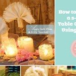 DIY centerpieces using white table napkins