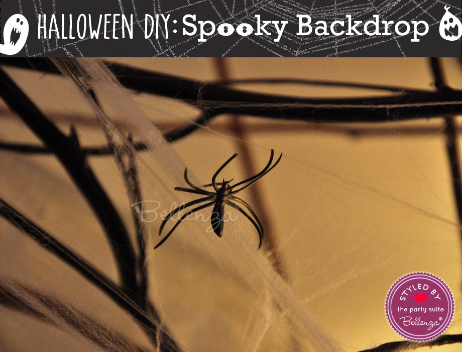 Add faux spider cobwebs into the display for a Halloween entryway