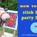 How to make stick horse party favors by Bellenza.