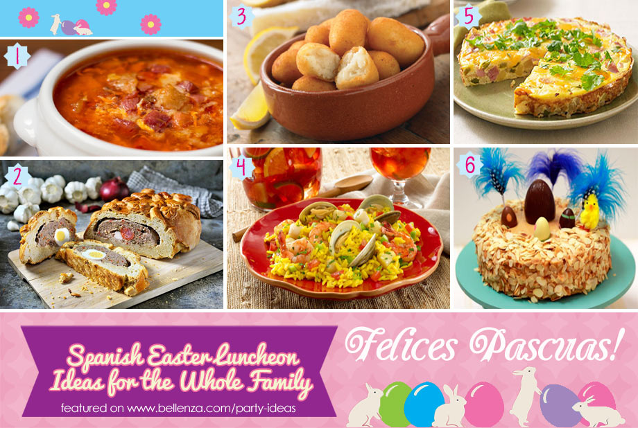 Felices Pascuas food and desserts