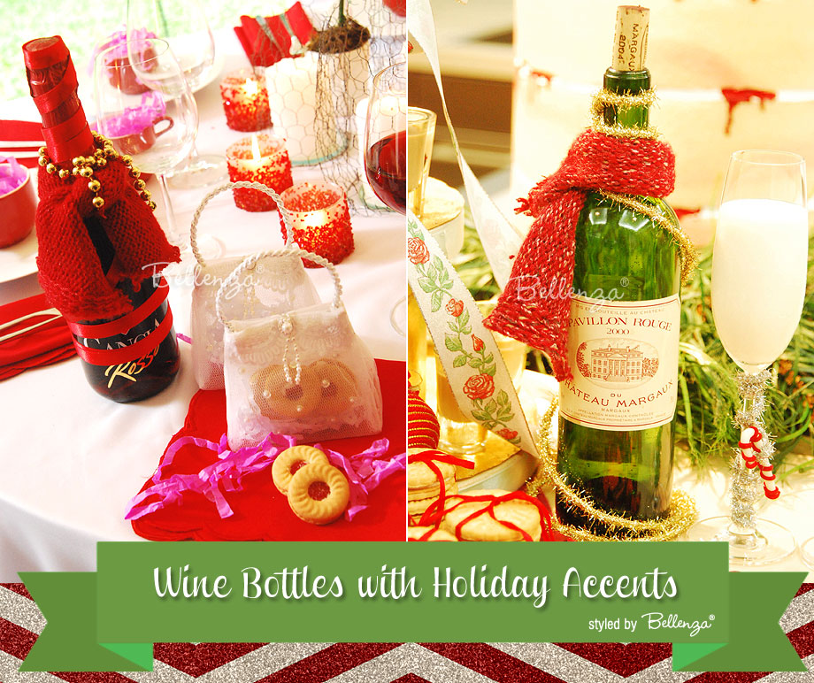Wine bottle scarves