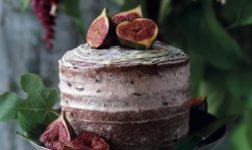 Chocolate Fig Naked Cake Recipe via Red Online UK