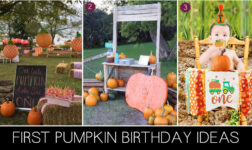 1ST PUMPKIN THEMED BIRTHDAY