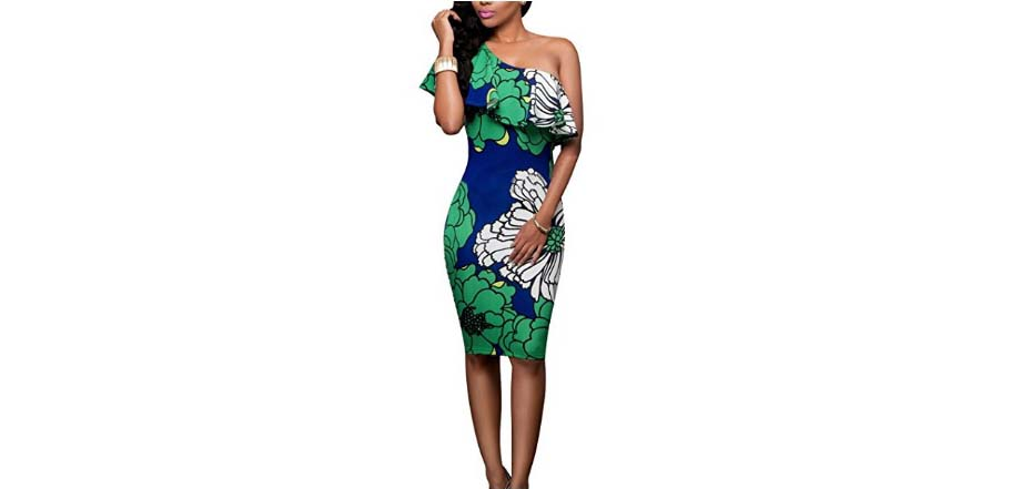 printed floral midi dress