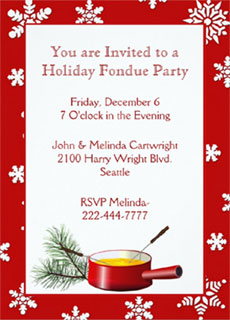 Fondue party invitation via Zazzle