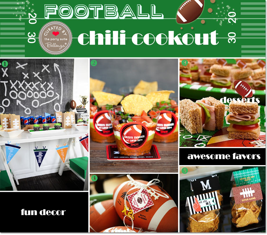 Football Chili Decorations and Favors