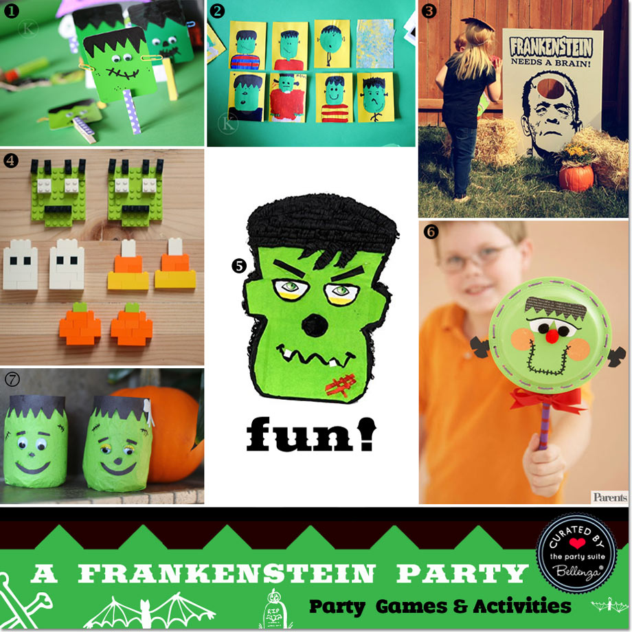 Frankenstein party activities and games // curated finds by Bellenza.
