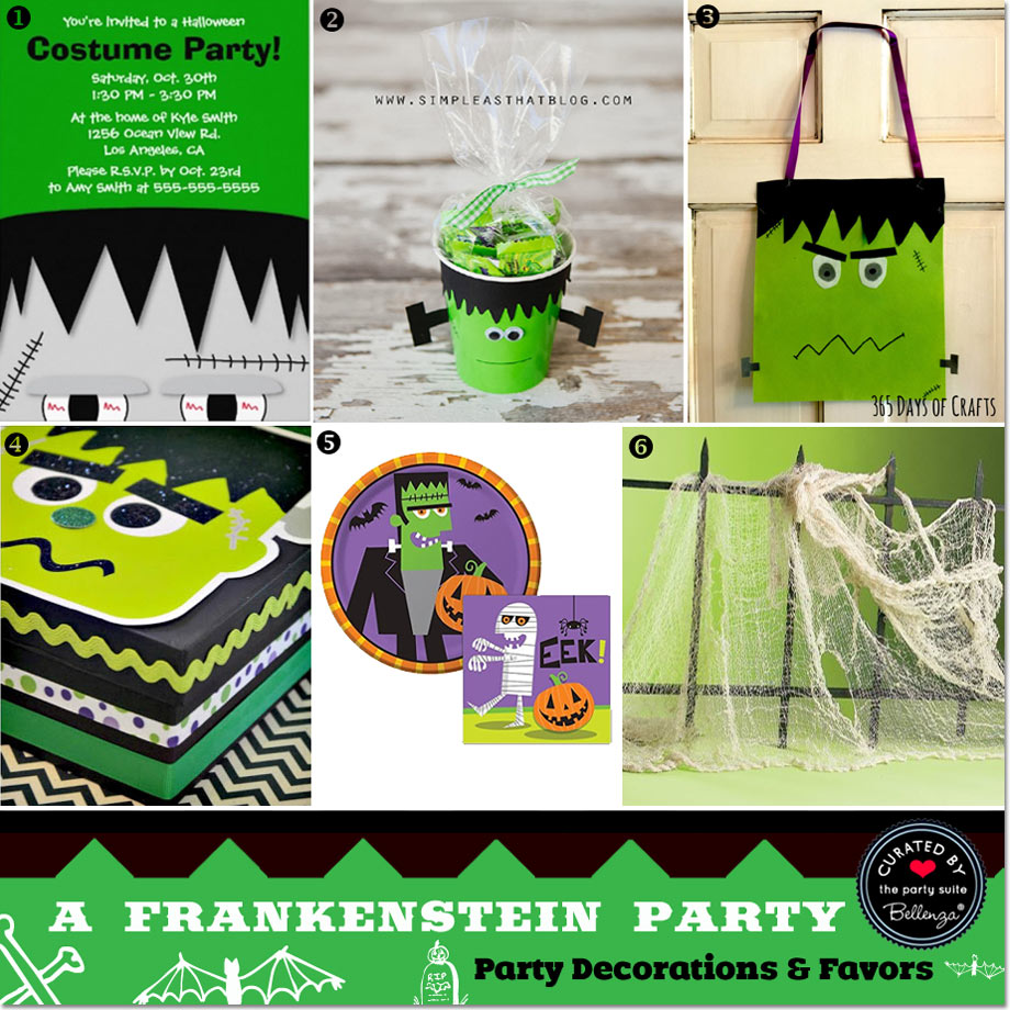 Frankenstein party decor and favors // curated finds by Bellenza.