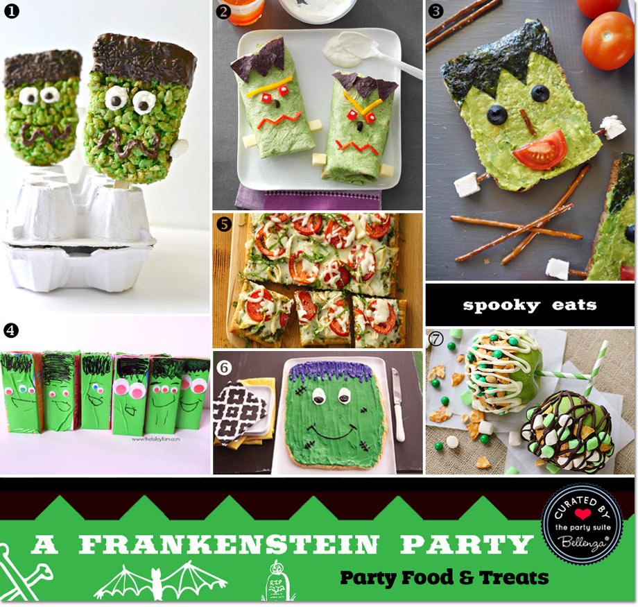 Frankenstein party food and treats // curated finds by Bellenza.