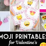 Cute Emoji Printables for Valentine's Day Cards that are Free