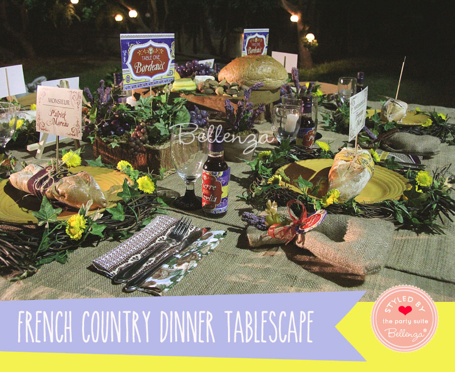 French Provence inspired table decorations