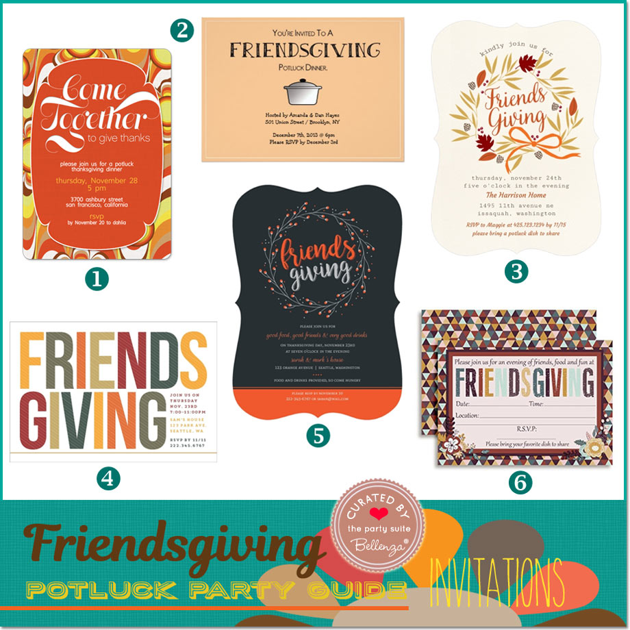 Friendsgiving invitations // curated ideas from Bellenza