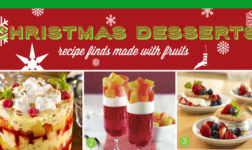 How to make Christmas desserts with fruits