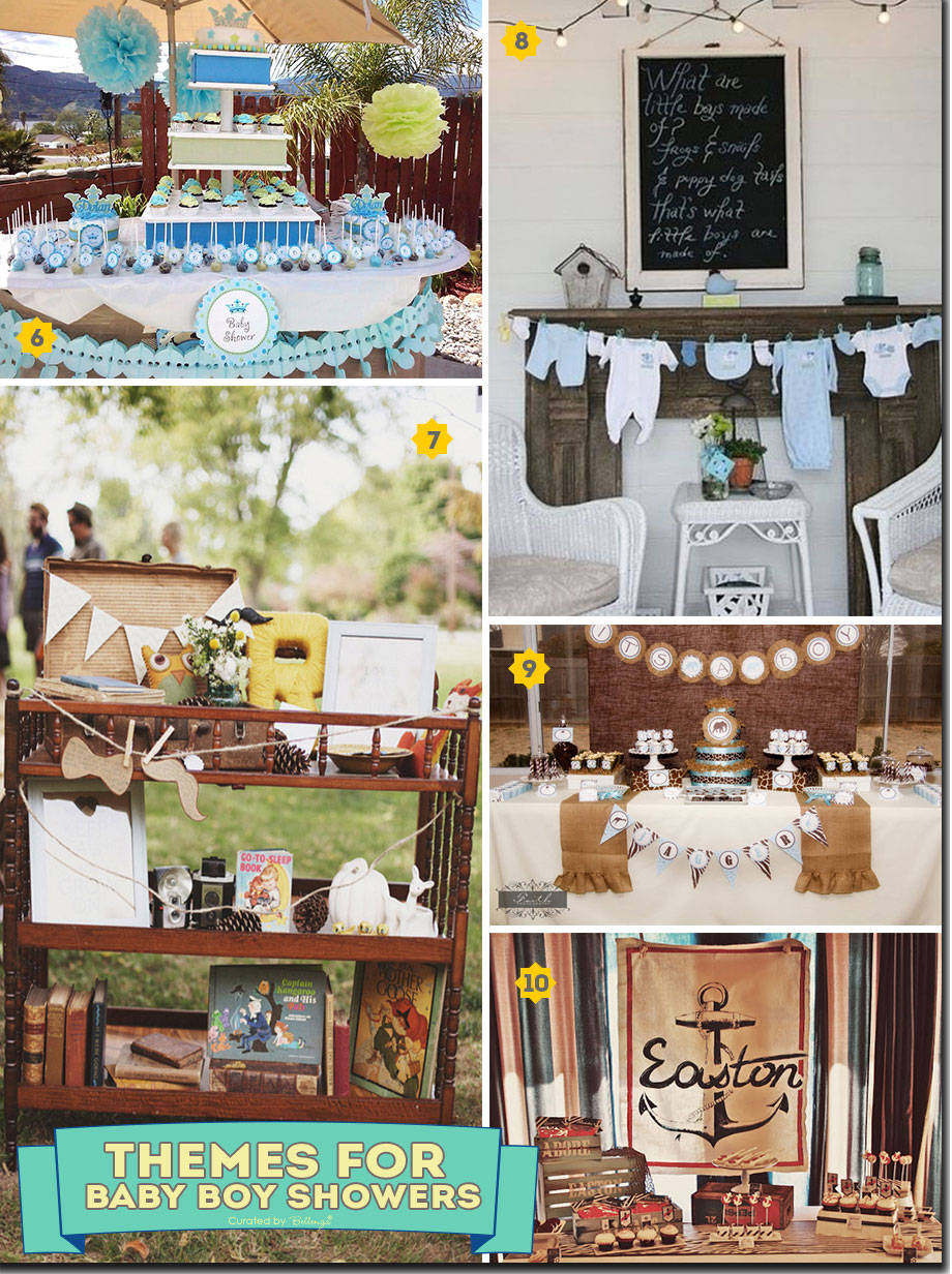 Vintage and shabby chic baby shower themes