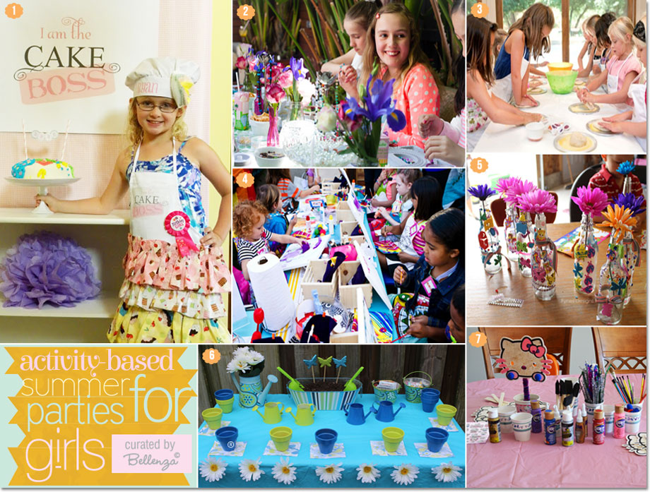 See how you can pull off a fun birthday party with activities like crafting and cooking for girls | as featured on the Party Suite at Bellenza.