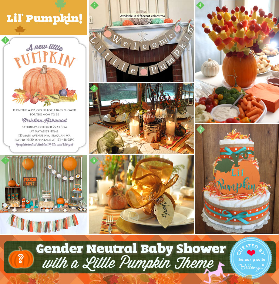 Ideas for a Gender Neutral Fall Baby Shower with a Little Pumpkin Theme