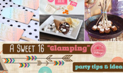 Sweet 16 Camp Themed Birthday Sleepover