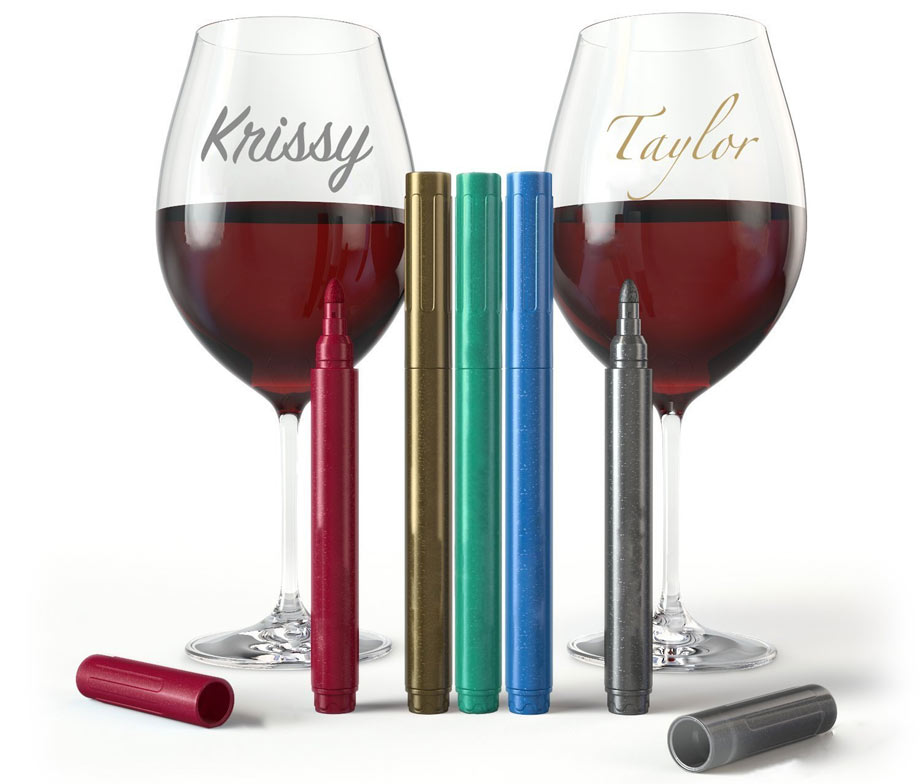 wine glass markers via Amazon