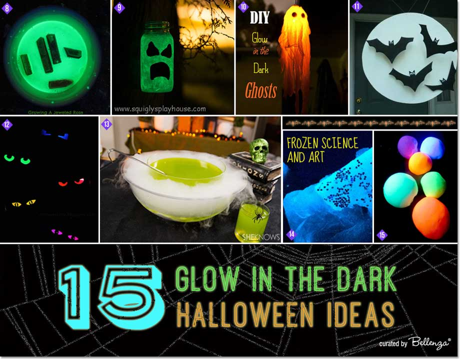 From glowing mason jars to punch bowls, 15 glow in the dark ideas for Halloween that are DIYable!