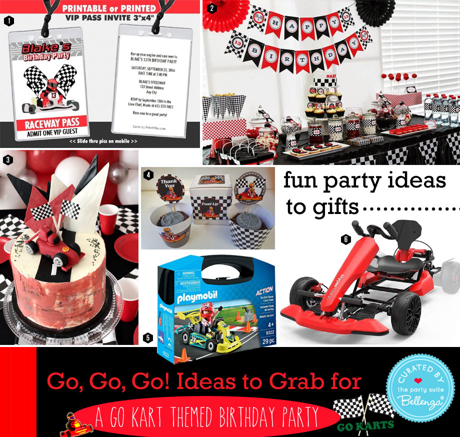 Go-Kart themed Birthday Party Theme