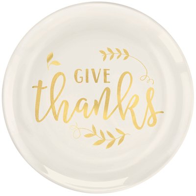 Gold foil dinner plate for thanksgiving