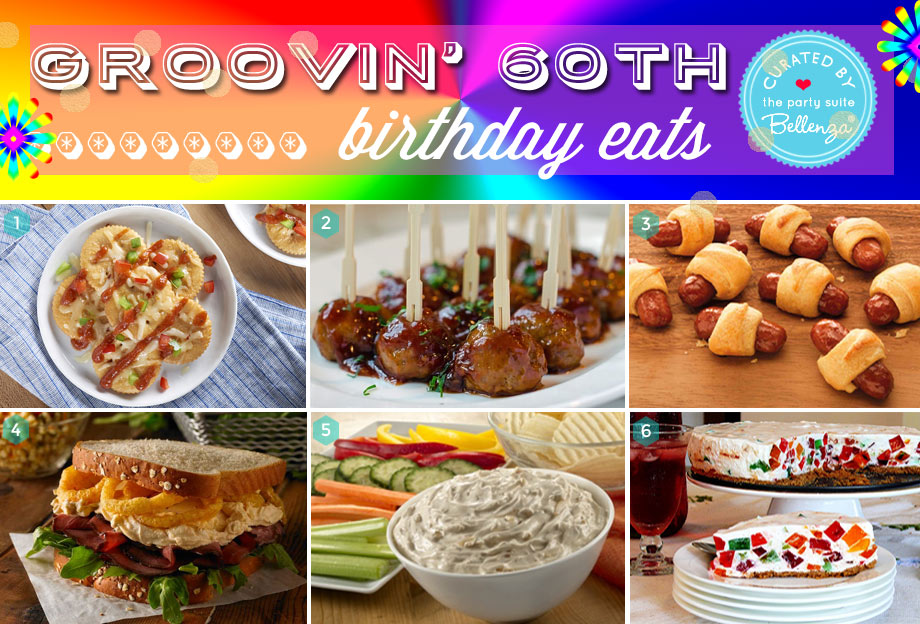 Groovin' 60s Birthday Party Food