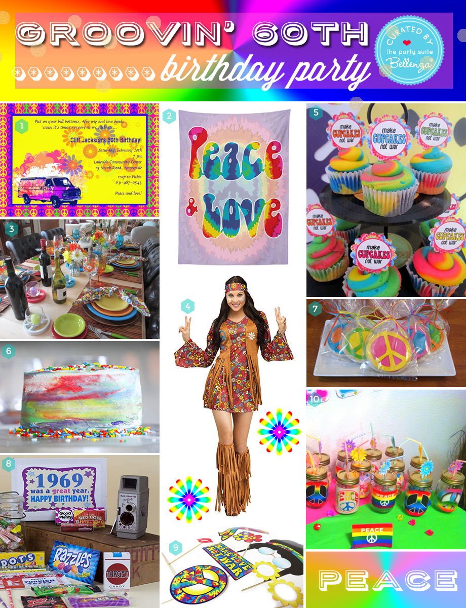 How to plan a 1960s hippie themed birthday party