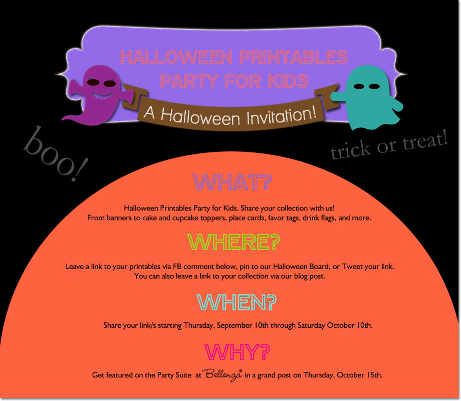 Halloween Printables Party for Kids