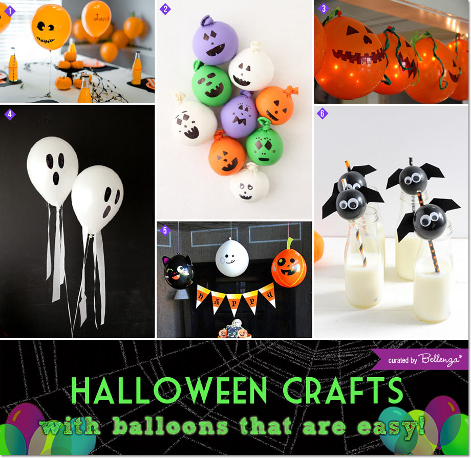 Halloween crafts with balloons that are easy!