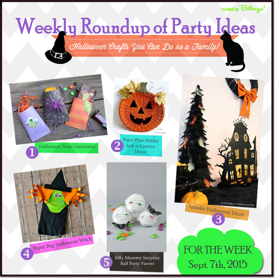 Halloween Crafts You Can Do with the Entire Family! Our Weekly Round for Sept. 7th, 2015 at the Party Suite at Bellenza.