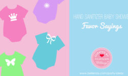 Hand Sanitizer Baby Shower Favor Sayings