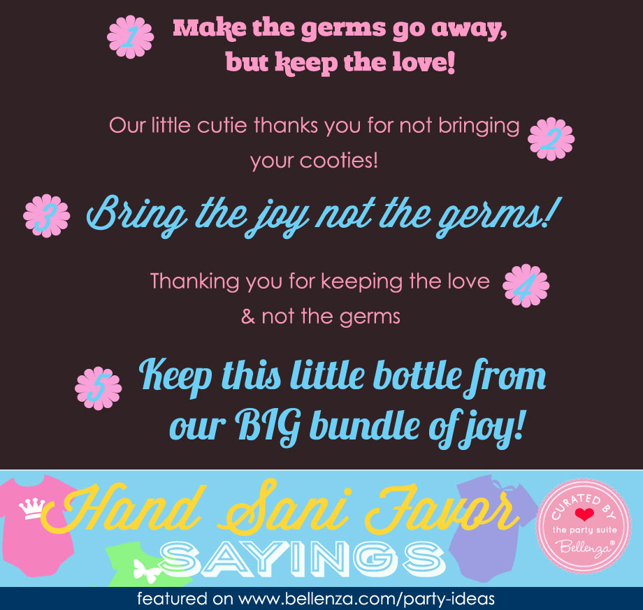Hand Sanitizer Favor Sayings