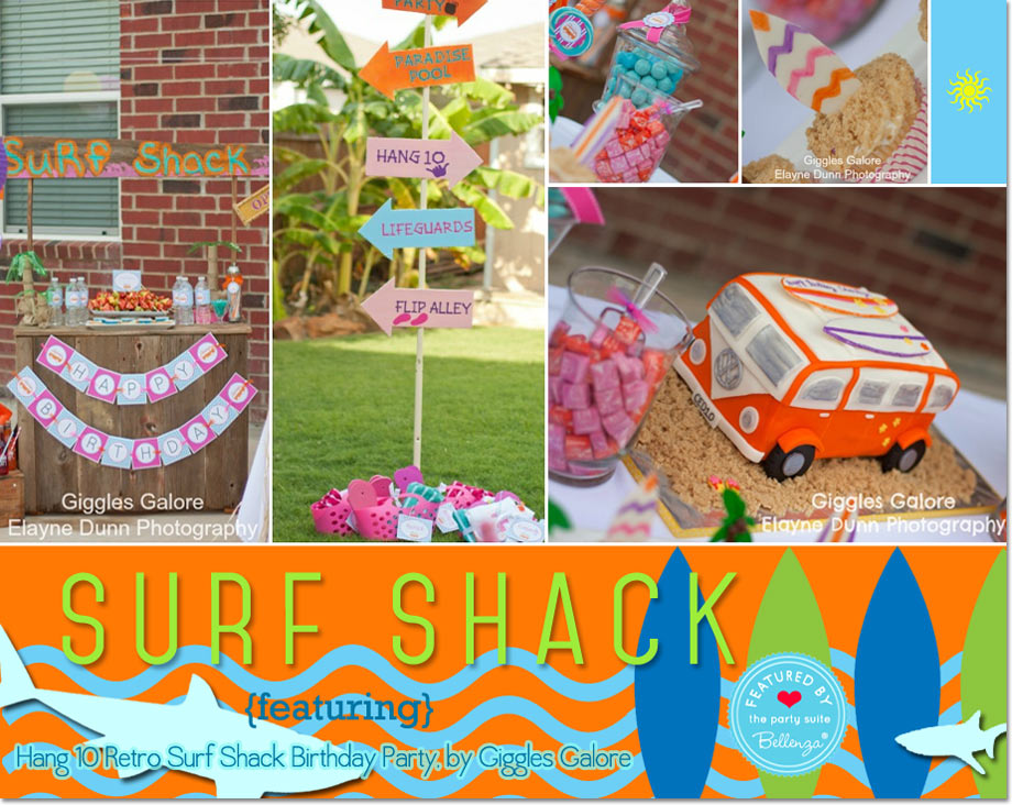 Hang 10 Retro Surf Shack Birthday Party by Giggles Galore