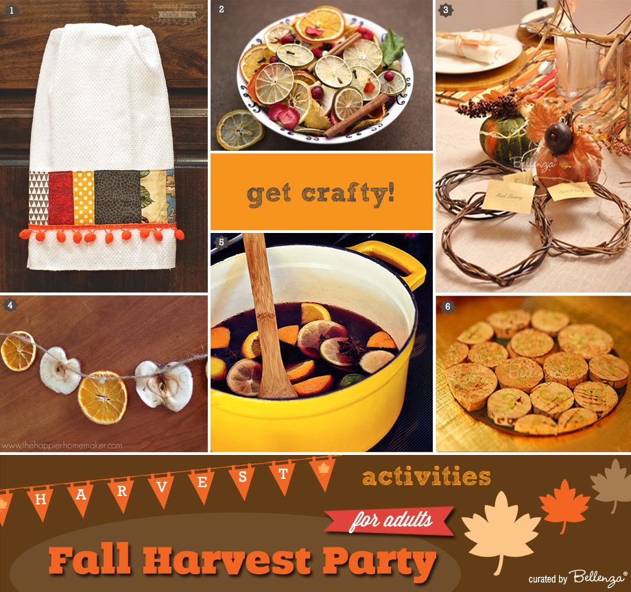 Activities for Adults at a Harvest Birthday Party this Autumn