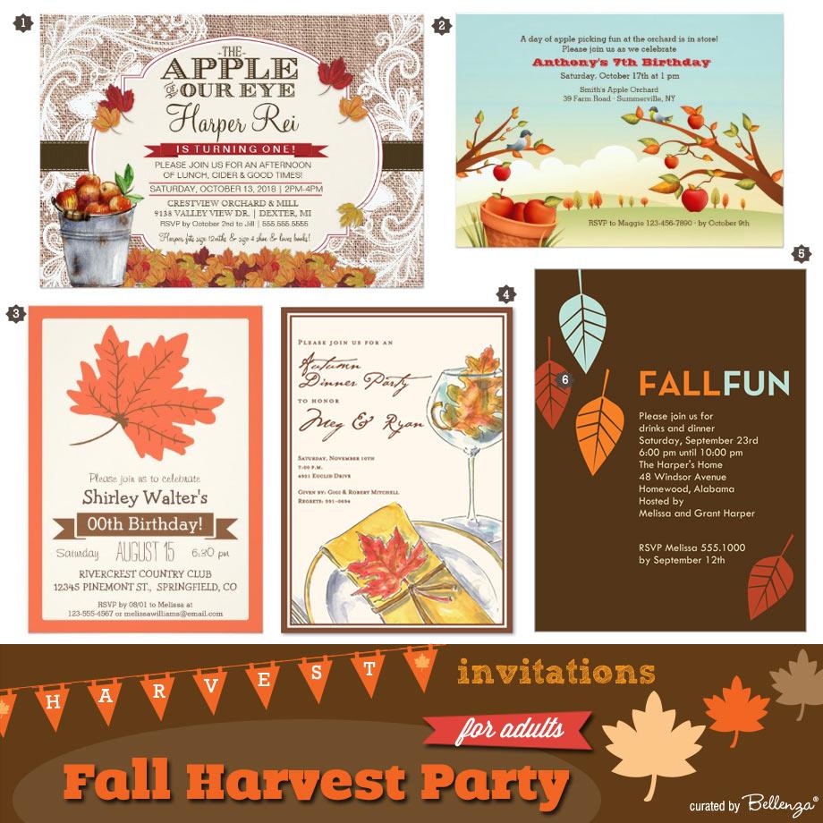 Autumn-themed Invitation Ideas for Adult's Birthdays