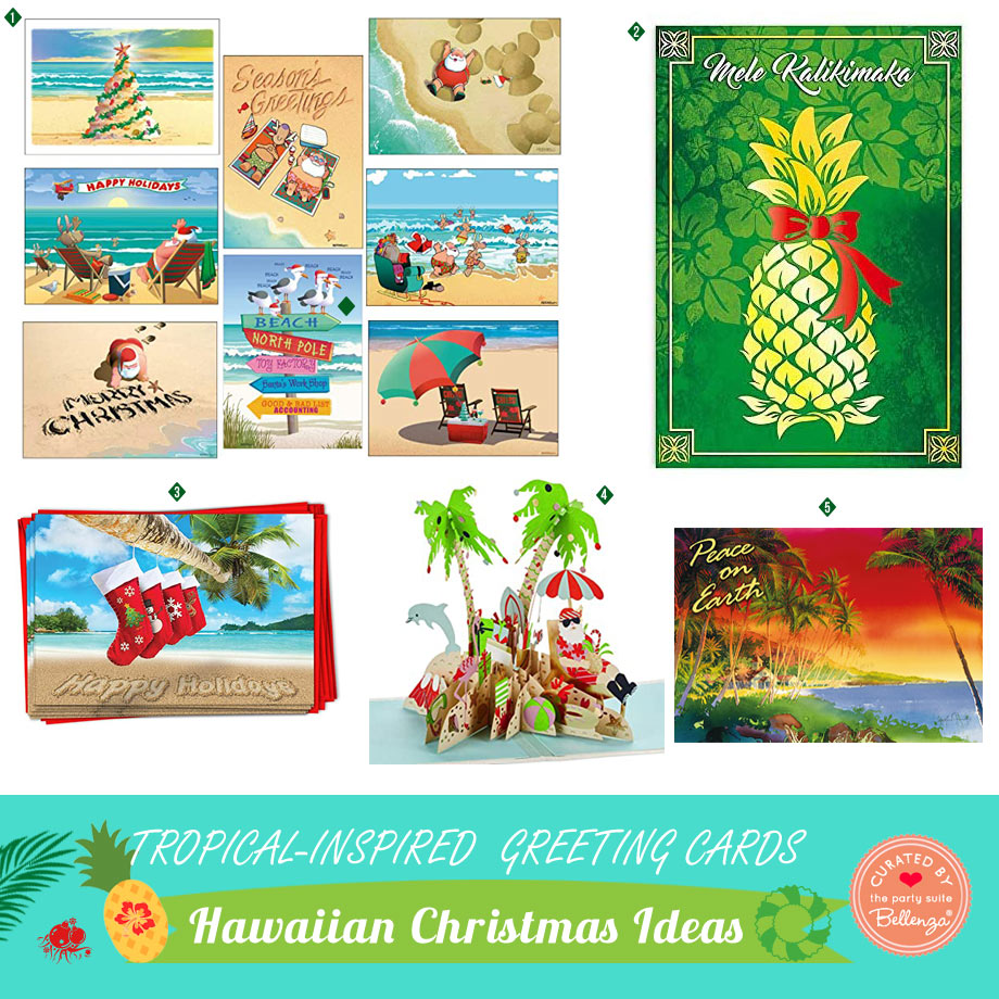 Tropical Christmas Greetings Cards