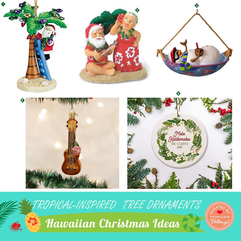 Whimsical Tropical Christmas Ornaments