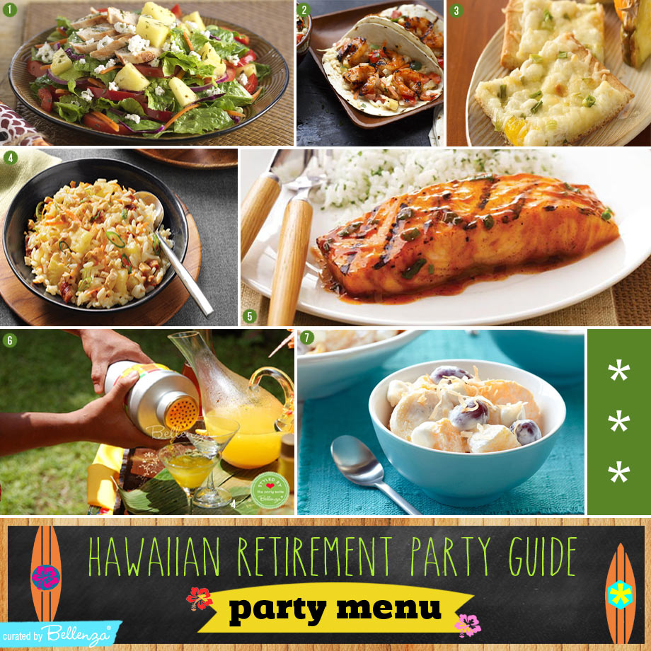 A Hawaiian-inspired Party Menu and Drinks