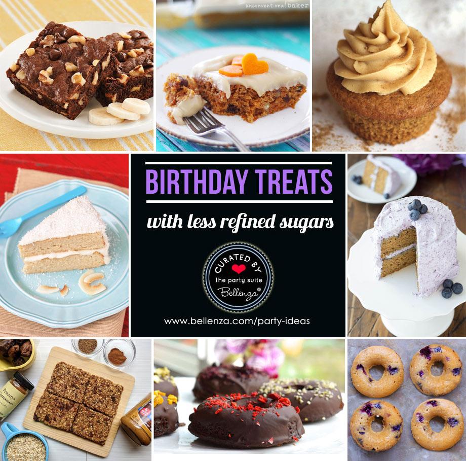 Healthier birthday desserts and treats