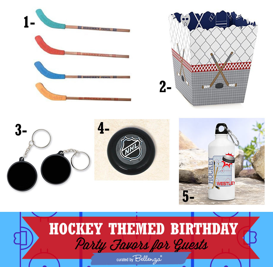 Hockey-themed Party Favors