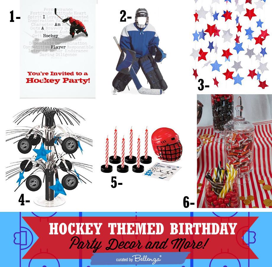 Boy's hockey theme birthday theme