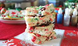 Holiday Cake Mix Bars by the Scrappy Geek