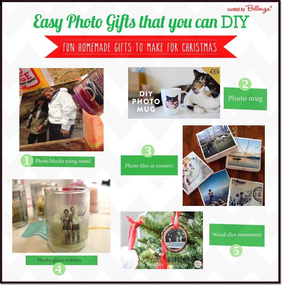 Easy Photo Gifts to Make as Holiday Gifts // Curated Ideas by Bellenza.
